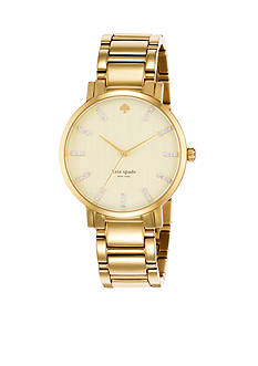 kate spade new york® Gold-Tone Crystal Gramercy Grand Watch