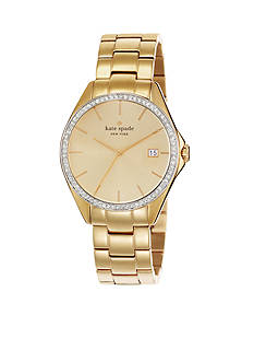 kate spade new york® Large Gold Seaport Watch