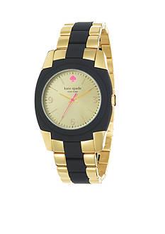 kate spade new york® Gold Black Skyline Watch