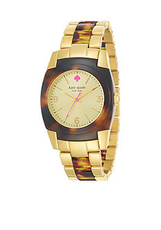 kate spade new york® Gold Tortoise Skyline Watch