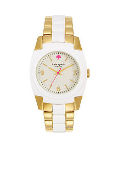 kate spade new york® Gold White Skyline Watch