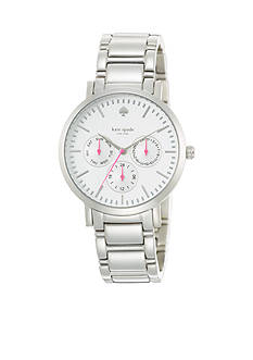 kate spade new york® Grand Multi-Function Large Stainless Gramercy Watch