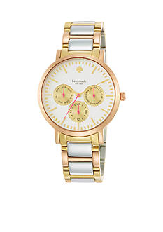 kate spade new york® Grand Multi-Function Large Tri-Tone Gramercy Watch
