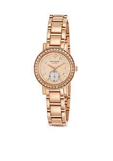 kate spade new york® Gramercy Mini Pave Subdial Watch