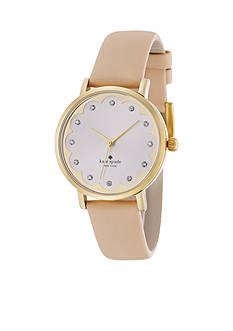 kate spade new york® Vachetta Scalloped Novelty Metro Watch