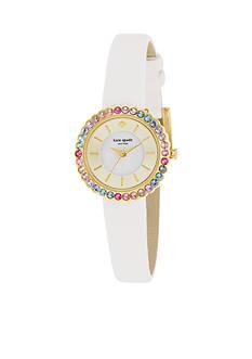 kate spade new york White Multi Bezel Cornelia Watch