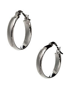 Polished Mid-Size Hoop Earring