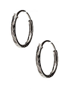 Belk Silverworks Diamond Cut Hoop