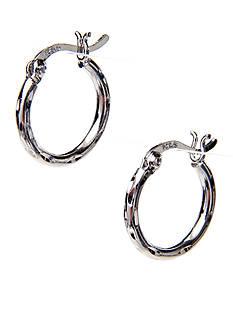 Belk Silverworks Silver 100 Diamond Cut Hoop