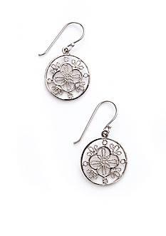 Belk Silverworks Silver 100 Round Pierced Drop Earring