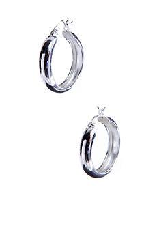 Belk Silverworks Large Round Polished Silver 100 Hoop
