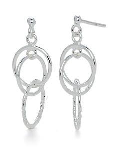 Belk Silverworks Pure 100 Multi Ring Drop Earring