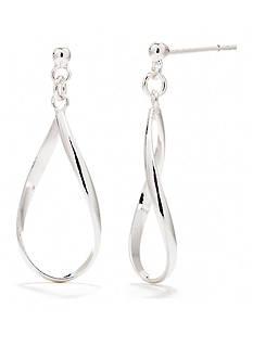Belk Silverworks Pure 100 Oval Drop Earring