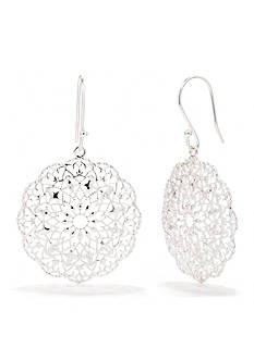 Belk Silverworks Pure 100 Large Doily Drop Earring