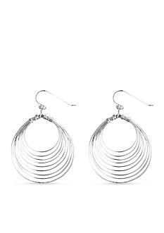 Belk Silverworks Pure 100 Multi Wire Large Oval Drop Earring