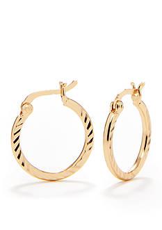 Belk Silverworks 24 Karat Gold Over Pure 100 Small Hoop Earrings