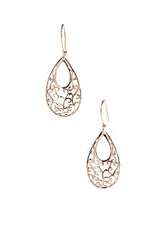 Belk Silverworks Large Oval Filigree Drop Earring cast is Silver 100 and Plated with 24Kt Gold