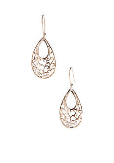 Belk Silverworks 24k Gold-Plated Silver 100 Large Oval Filigree Drop Earring