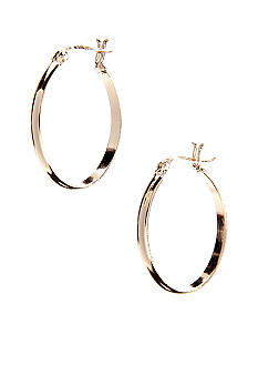 Belk Silverworks 24 Kt Gold Over Silver 100 U Shaped Hoop Earring