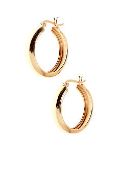 Belk Silverworks Classic Round Hoop w Snap Top Clutch in 24Kt Gold over Silver 100