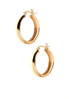 Belk Silverworks Classic Round Hoop with Snap Top Clutch in 24k Gold over Silver 100