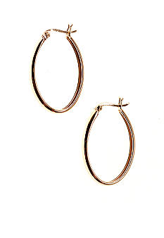 Belk Silverworks 24kt over Silver 100 Oval Polished Hoop