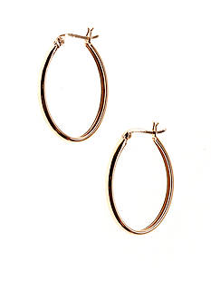 Belk Silverworks 24k Gold Over Silver 100 Oval Polished Hoop