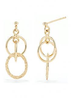 Belk Silverworks 24Kt over Pure 100 Multi Ring Drop Earring