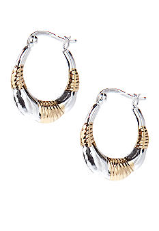 Belk Silverworks Two Tone Twist Hoops