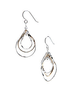 Belk Silverworks Two Tone Multiple Drop Silver 100 Earring