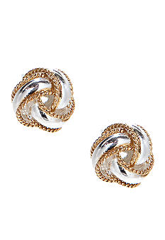 Belk Silverworks Two Tone 10mm Double Knot Stud Earring