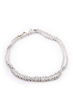 Belk Silverworks Silver Small Twisted Bracelet