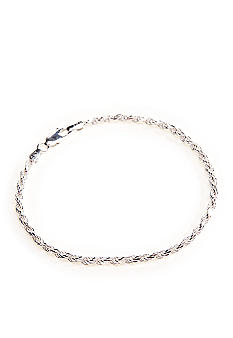 Belk Silverworks Silver 100 Diamond Cut French Rope Bracelet