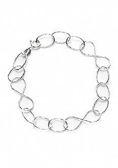 Belk Silverworks Open Link Pure 100 8-in. Chain Bracelet