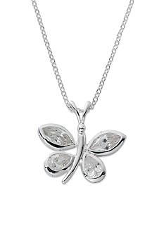 Belk Silverworks Pure 100 CZ Butterfly Boxed Pendant