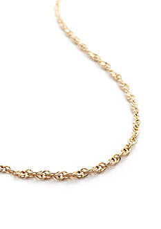 Belk Silverworks 24k Gold Over Silver 100 18-in. Singapore Chain