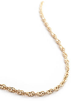 Belk Silverworks 24Kt Gold over Silver 100 Singapore Chain