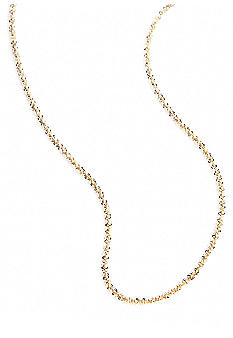 Belk Silverworks 24Kt Gold Over Silver 100 Fancy Rolo Chain