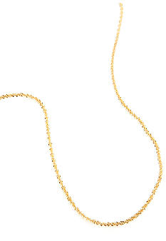 Belk Silverworks 24 Kt Gold over Silver 100 Fancy Rolo Chain in 24 Inches