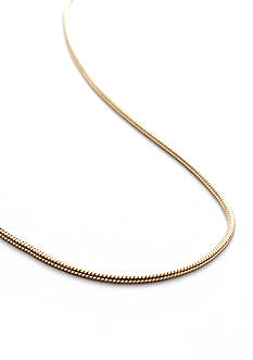Belk Silverworks 24Kt Gold over 24 Inch Silver 100 Round Snake Chain