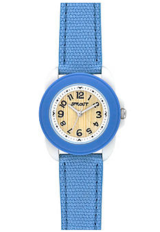 Sprout Light Blue Round Bezel and Blue Cotton Strap