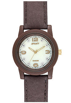 Sprout Brown Corn Resin Case and Brown Strap