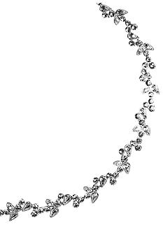 Givenchy Silver Tone Flora Detail Necklace