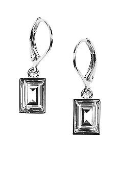 Givenchy Crystal Rectangular Drop Earrings