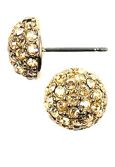 Givenchy Gold Tone Crystal Fireball Stud Earrings