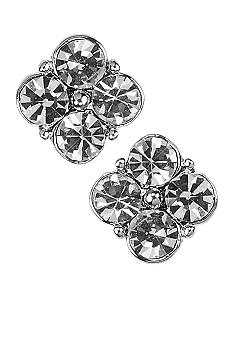 Givenchy Crystal Flower Stud Earrings