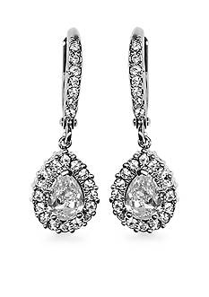 Givenchy Pear Drop Crystal Drop Earrings