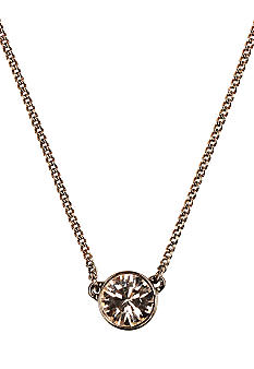 Givenchy Brown Gold Pendant