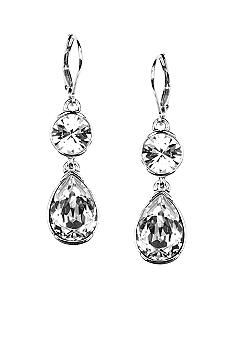 Givenchy Crystal Double Drop Earring
