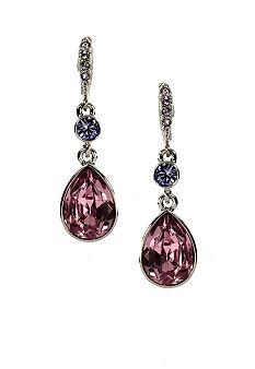 Givenchy Purple Drop Earrings